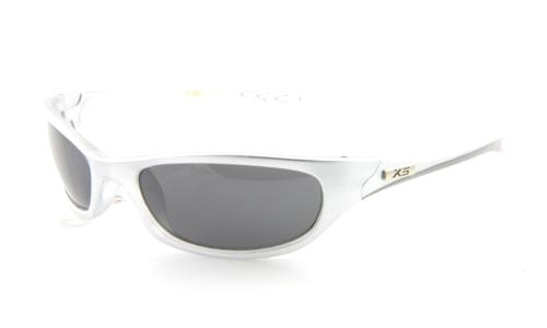 SILVER WITH BLACK LENS