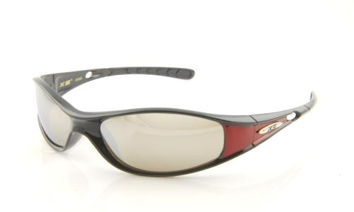 BLACK RED WITH SILVER LENS
