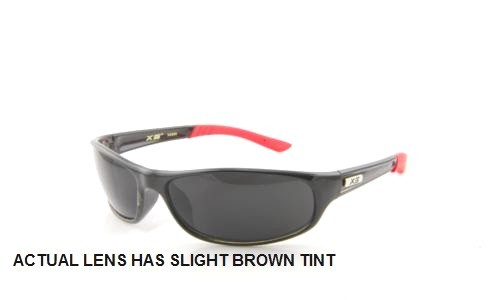 BLACK RED WITH BROWN LENS